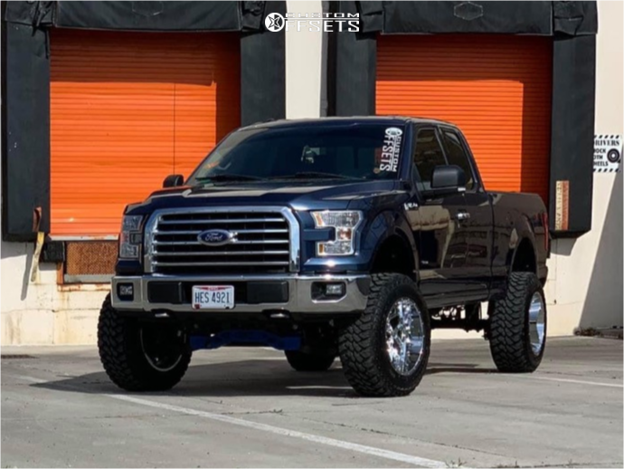 """2015 Ford F-150 Aggressive > 1"""" outside fender on 20x12 -51 offset Vision Sliver and 35""""x12.5"""" Maxxis Buckshot 2 on Suspension Lift 6"""" - Custom Offsets Gallery"""