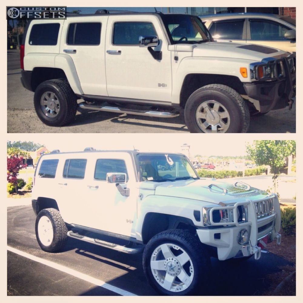 Wheel offset 2006 hummer h3 aggressive 1 outside fender leveling 2 2006 h3 hummer leveling kit kmc xd775 custom aggressive 1 outside fender vanachro Image collections