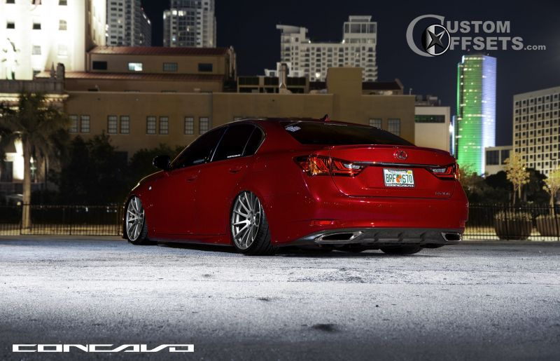 wheel offset 2013 lexus gs 350 flush dropped 3 custom rims wheel tire calculators