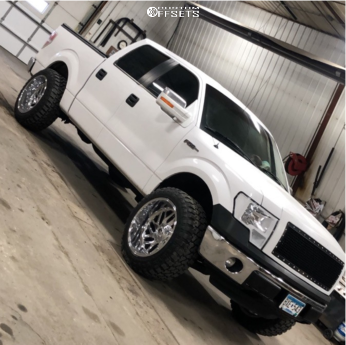 "2014 Ford F-150 Super Aggressive 3""-5"" on 22x12 -44 offset Fuel Triton and 35""x12.5"" Fury Offroad Country Hunter Mt on Leveling Kit - Custom Offsets Gallery"