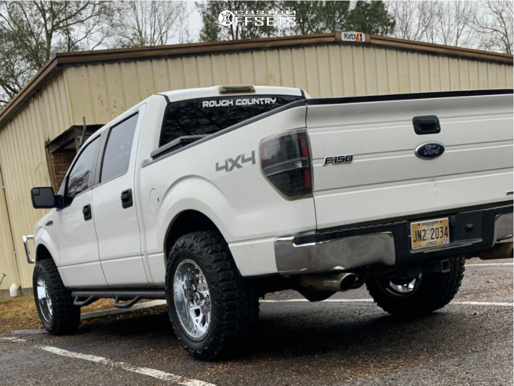 """2011 Ford F-150 Aggressive > 1"""" outside fender on 20x10 -19 offset Xtreme Force Xf8 and 35""""x12.5"""" Deestone Mud Clawer on Suspension Lift 2.5"""" - Custom Offsets Gallery"""