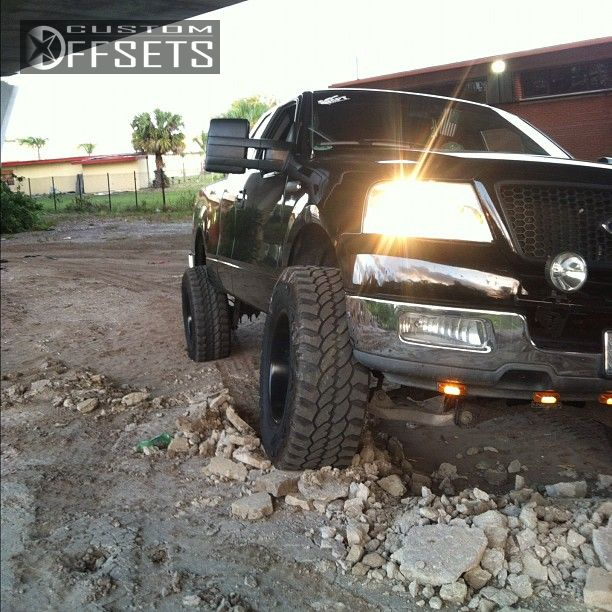 3 2004 F 150 Ford Suspension Lift 6 Motometal 961 Black Gunmetal Super Aggressive 3