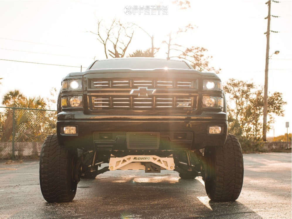 2 2015 Silverado 1500 Chevrolet Mcgaughys Suspension Lift 9in Arkon Off Road Crown Series Victory Machined Accents