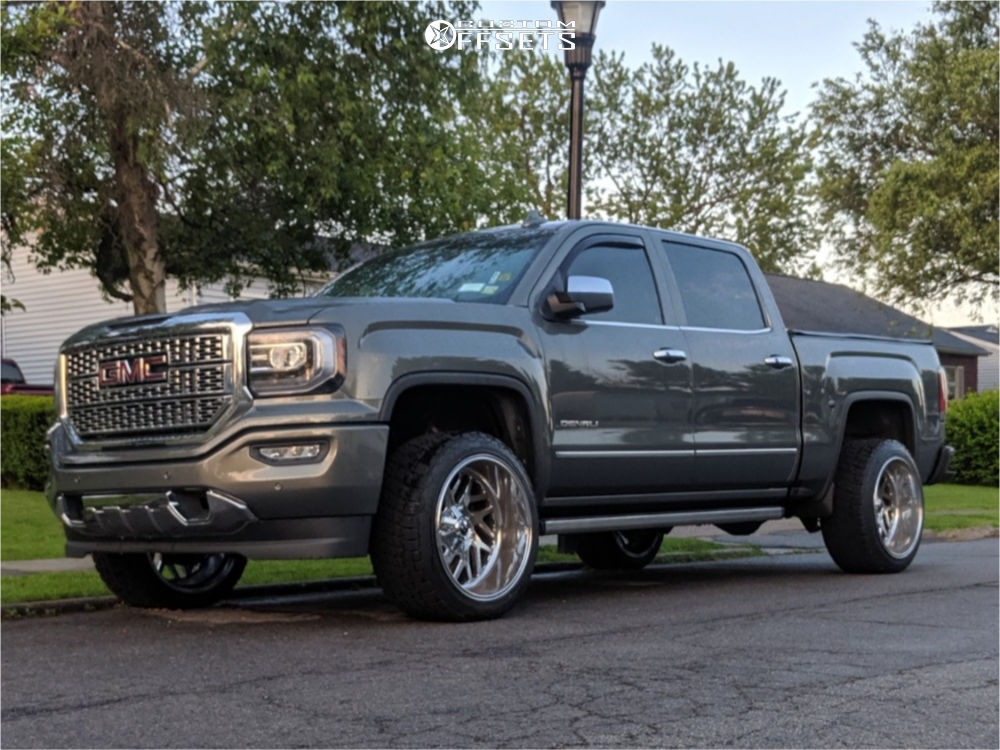 """2017 GMC Sierra 1500 Super Aggressive 3""""-5"""" on 22x12 -44 offset Fuel Triton and 305/40 Nitto Terra Grappler G2 on Suspension Lift 2.5"""" - Custom Offsets Gallery"""