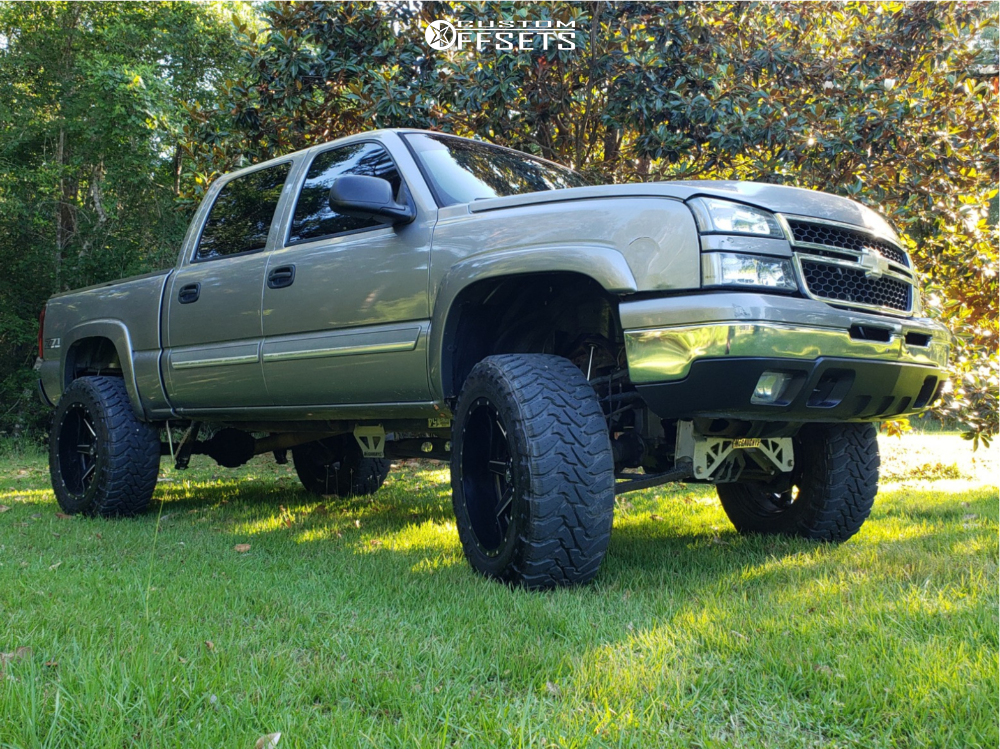 1 2006 Silverado 1500 Chevrolet Mcgaughys Suspension Lift 7in Fuel Maverick Black