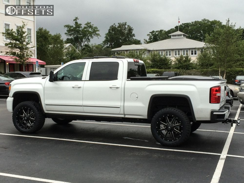 wheel offset 2015 gmc sierra 2500 hd flush leveling kit custom rims. Black Bedroom Furniture Sets. Home Design Ideas