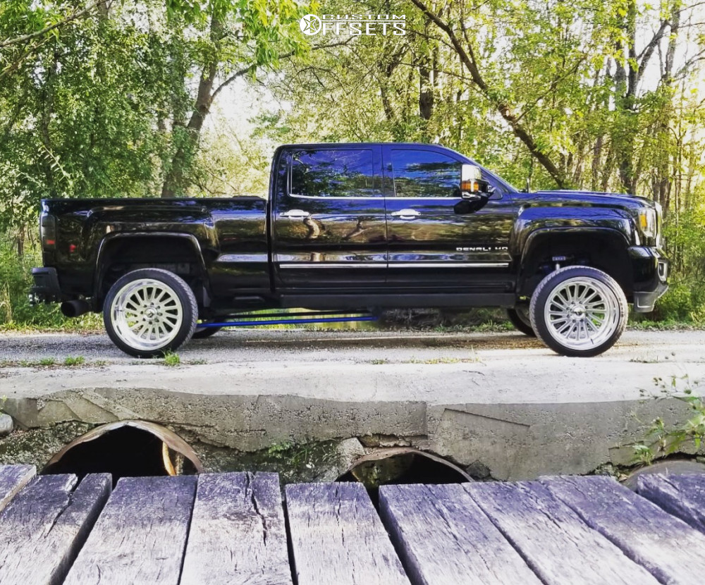 7 2016 Sierra 3500 Hd Gmc Wicked Suspension Lift 35in Fuel Forged Ff16 Polished
