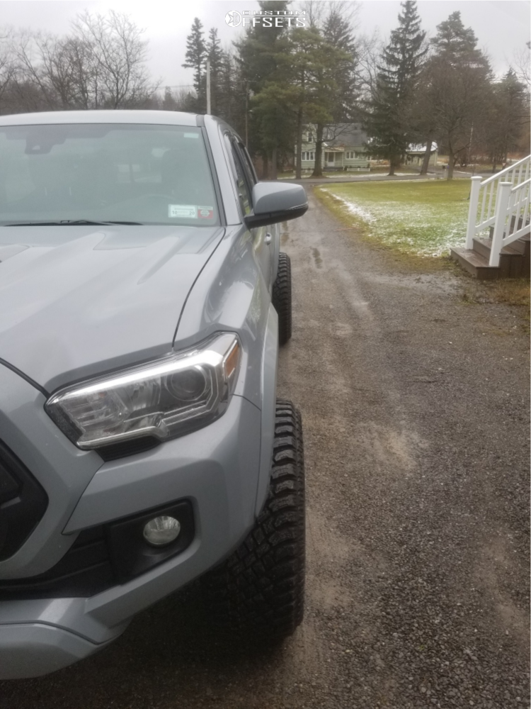 """2019 Toyota Tacoma Super Aggressive 3""""-5"""" on 20x12 -55 offset Vision Sliver and 33""""x12.5"""" Atturo Trail Blade Xt on Leveling Kit - Custom Offsets Gallery"""