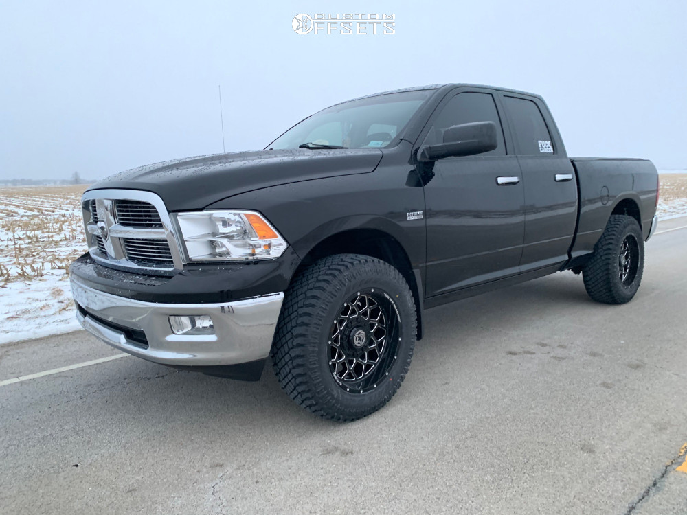 """2012 Dodge Ram 1500 Aggressive > 1"""" outside fender on 20x10 -18 offset Anthem Off-Road Avenger and 35""""x12.5"""" Atturo Trail Blade Xt on Leveling Kit - Custom Offsets Gallery"""