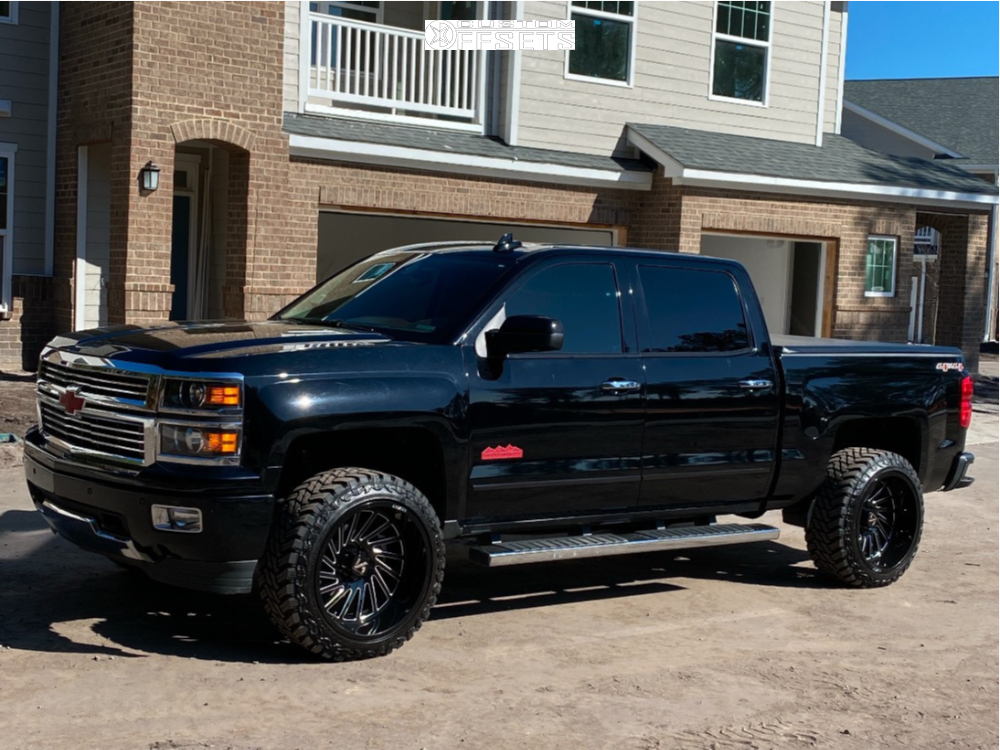 1 2015 Silverado 1500 Chevrolet Fabtech Suspension Lift 35in Arkon Off Road Caesar Black