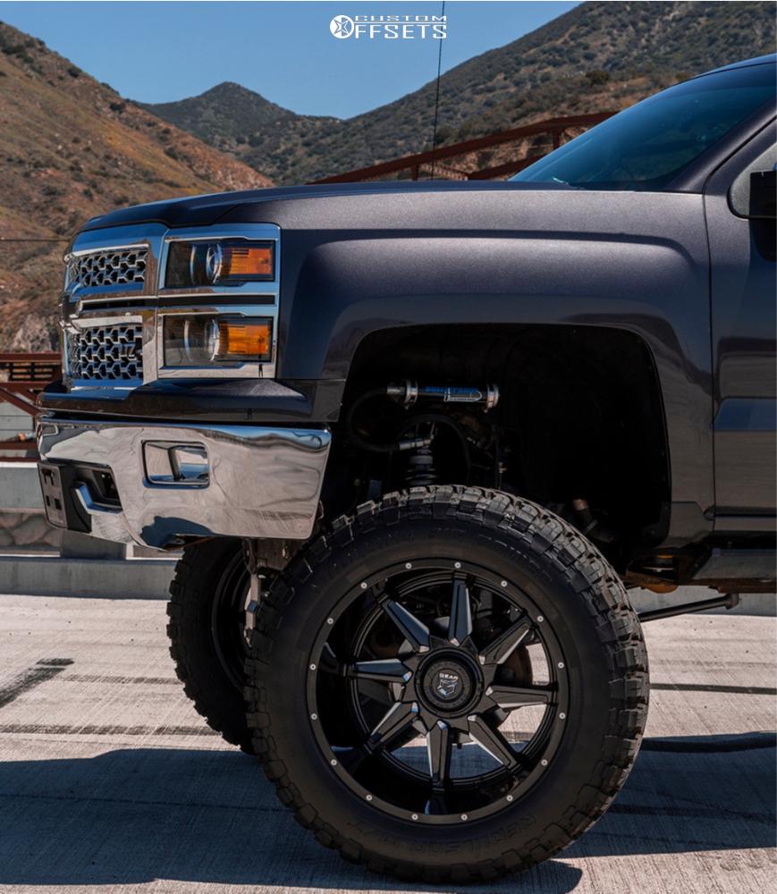 8 2016 Silverado 1500 Chevrolet Bulletproof Suspension Lift 12in Gear Off Road Wrath Machined Accents