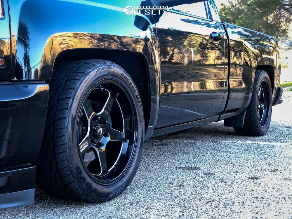 8 2016 Silverado 1500 Chevrolet Belltech Lowered 4f 6r Cosmis Racing Xt 005r Black