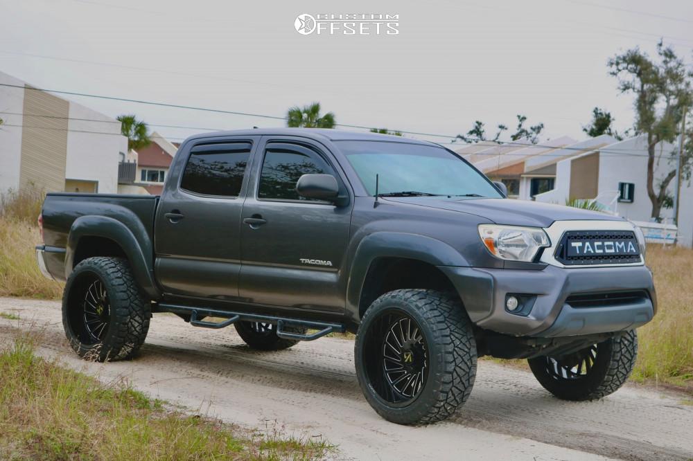 1 2015 Tacoma Toyota Pro Comp Suspension Lift 3in Arkon Off Road Caesar Black