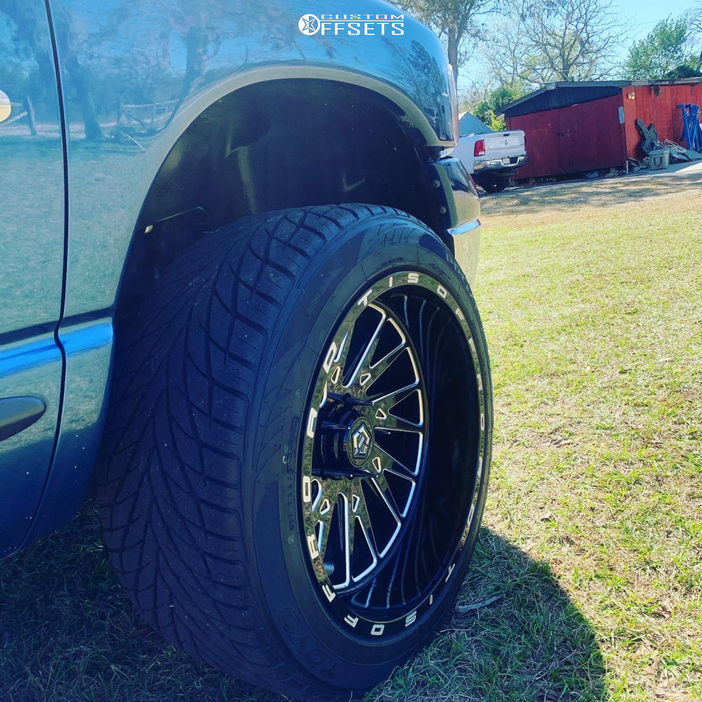 """2002 Dodge Ram 1500 Super Aggressive 3""""-5"""" on 22x12 -44 offset TIS 547bm and 305/45 Toyo Tires Proxes S/t on Suspension Lift 3"""" - Custom Offsets Gallery"""