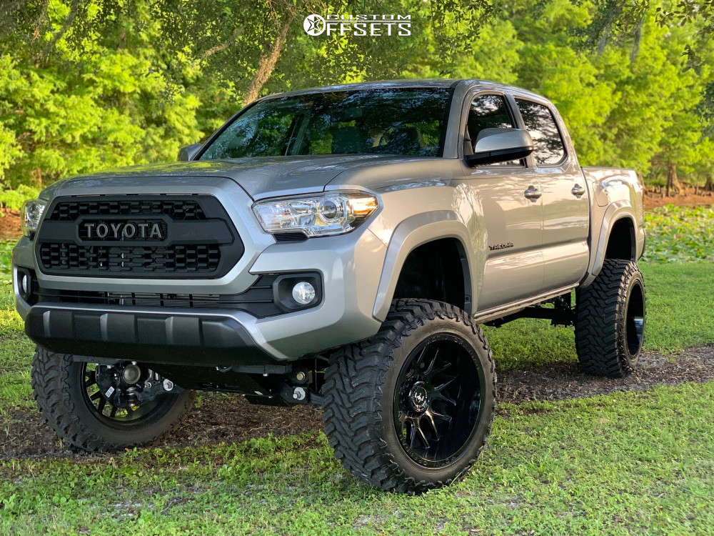 1 2019 Tacoma Toyota Rough Country Suspension Lift 6in Motiv Offroad Magnus Black
