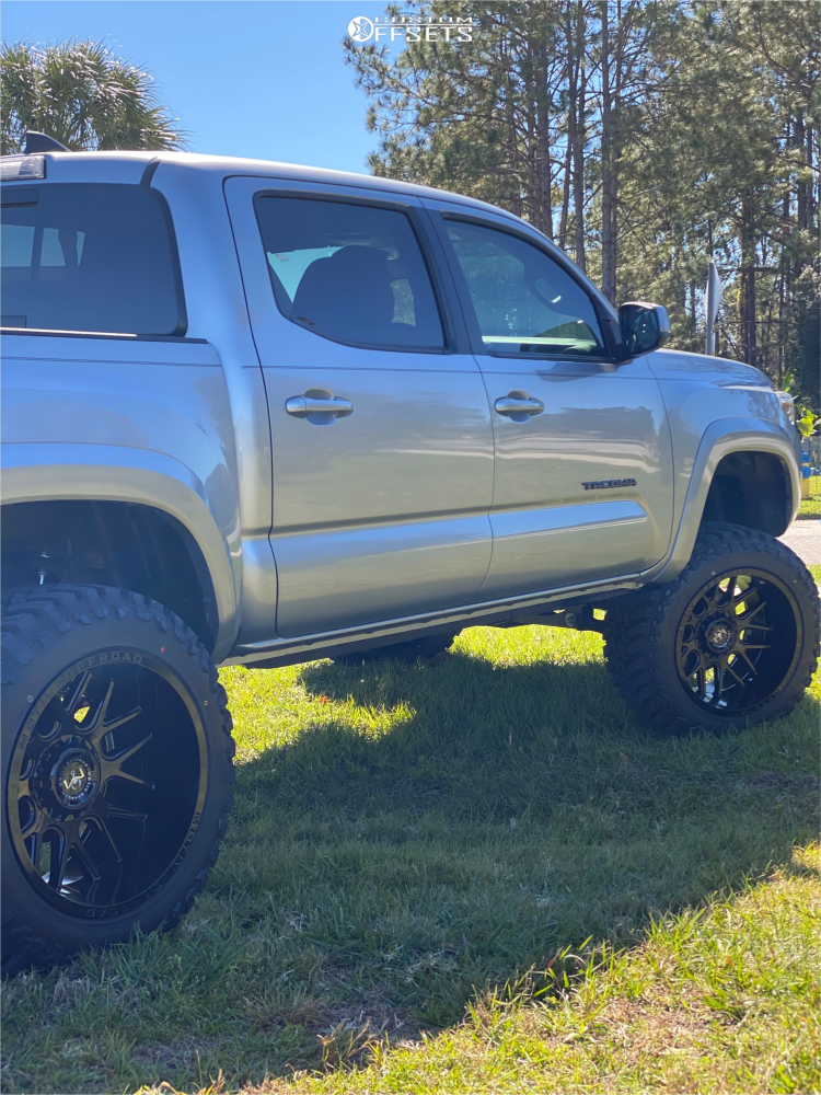 15 2019 Tacoma Toyota Rough Country Suspension Lift 6in Motiv Offroad Magnus Black