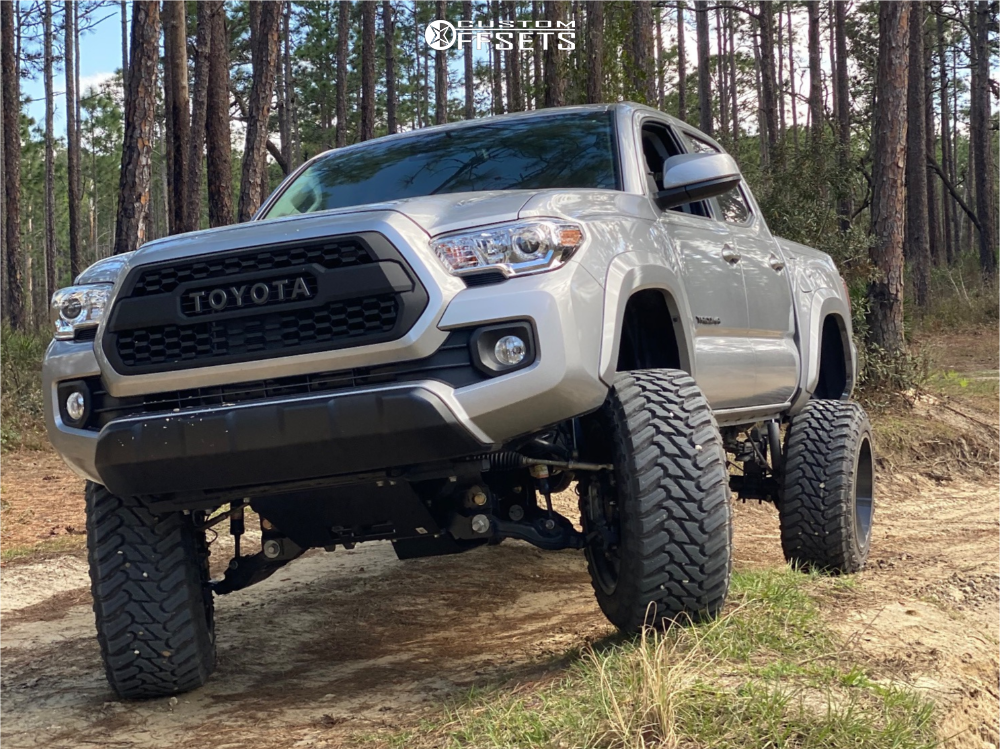 16 2019 Tacoma Toyota Rough Country Suspension Lift 6in Motiv Offroad Magnus Black