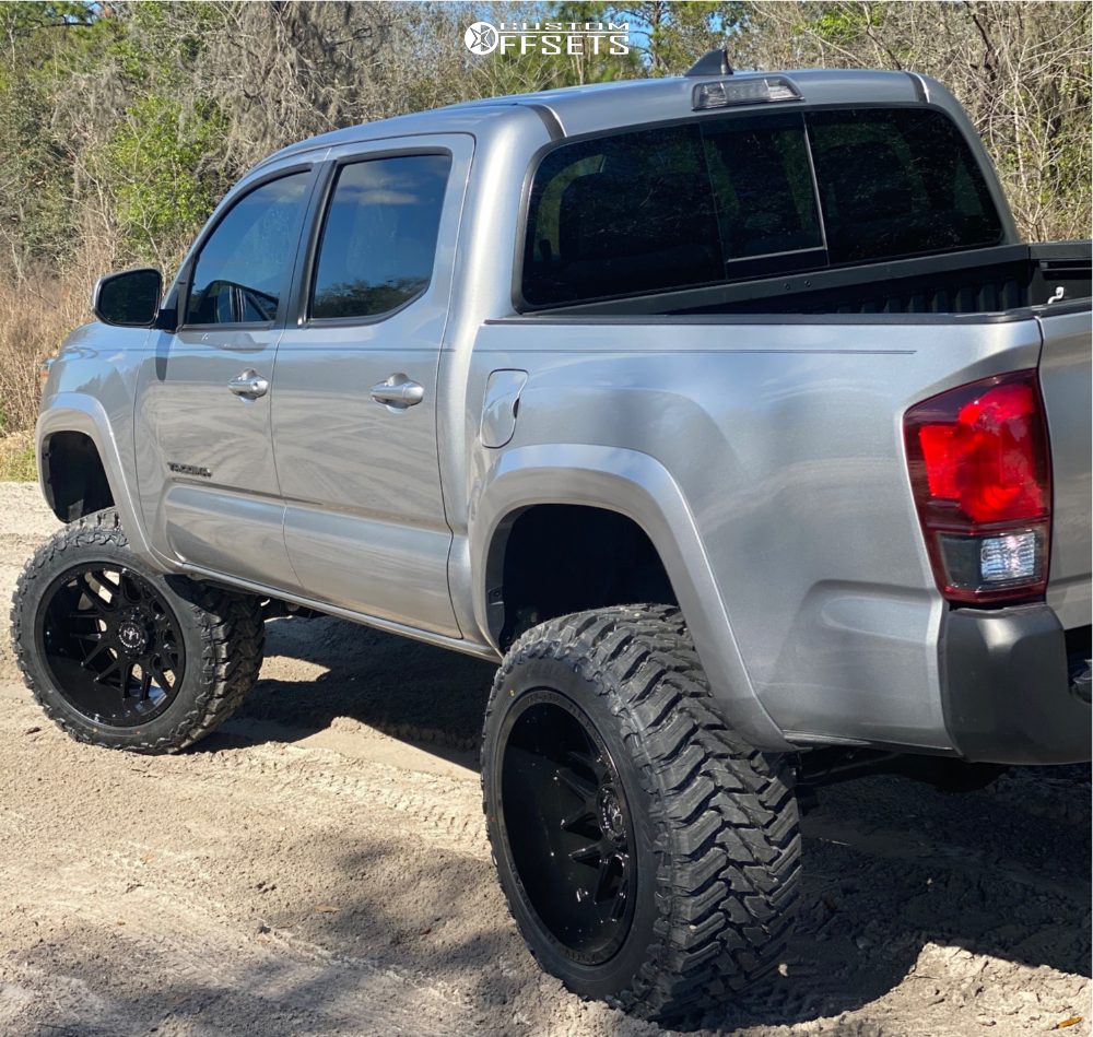 4 2019 Tacoma Toyota Rough Country Suspension Lift 6in Motiv Offroad Magnus Black
