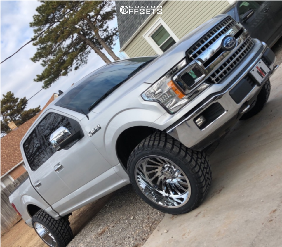 1 2019 F 150 Ford Motofab Suspension Lift 25in Arkon Off Road Caesar Chrome