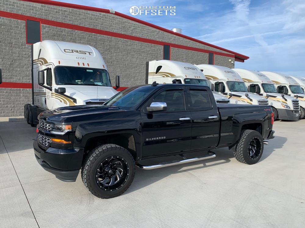 1 2019 Silverado 1500 Ld Chevrolet 2 Inch Level Leveling Kit Fuel Cleaver Black