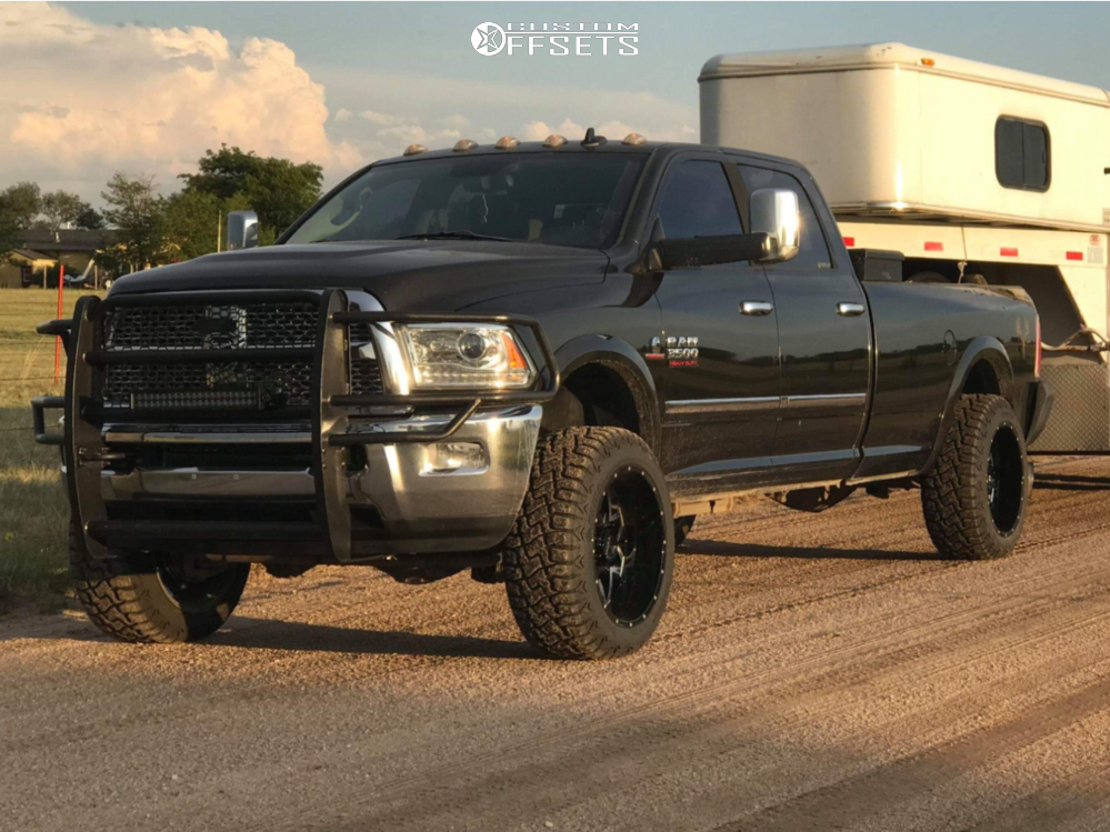 """2014 Ram 3500 Super Aggressive 3""""-5"""" on 22x12 -44 offset Ultra Carnivore and 35""""x12.5"""" Haida Hd878 Rt on Suspension Lift 2.5"""" - Custom Offsets Gallery"""