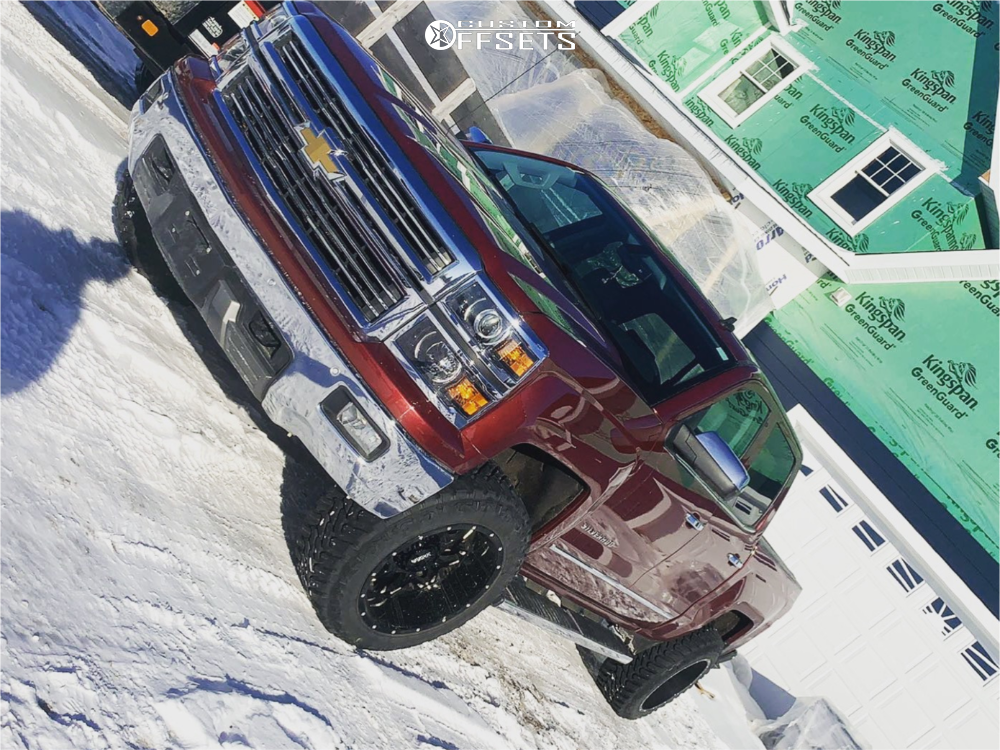 8 2014 Silverado 1500 Chevrolet Superlift Suspension Lift 35in Ultra Carnivore Machined Black