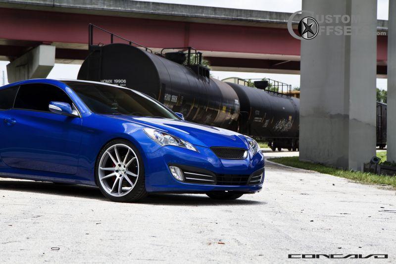 Wheel Offset 2011 Hyundai Genesis Coupe Flush Dropped 1 3