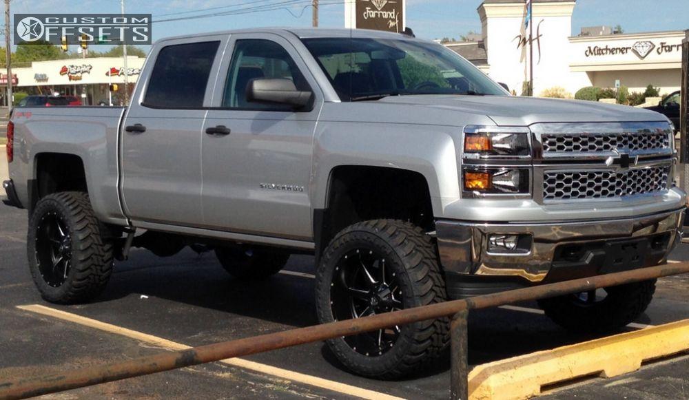 2014 Chevy Silverado Lifted >> Wheel Offset 2014 Chevrolet Silverado 1500 Slightly