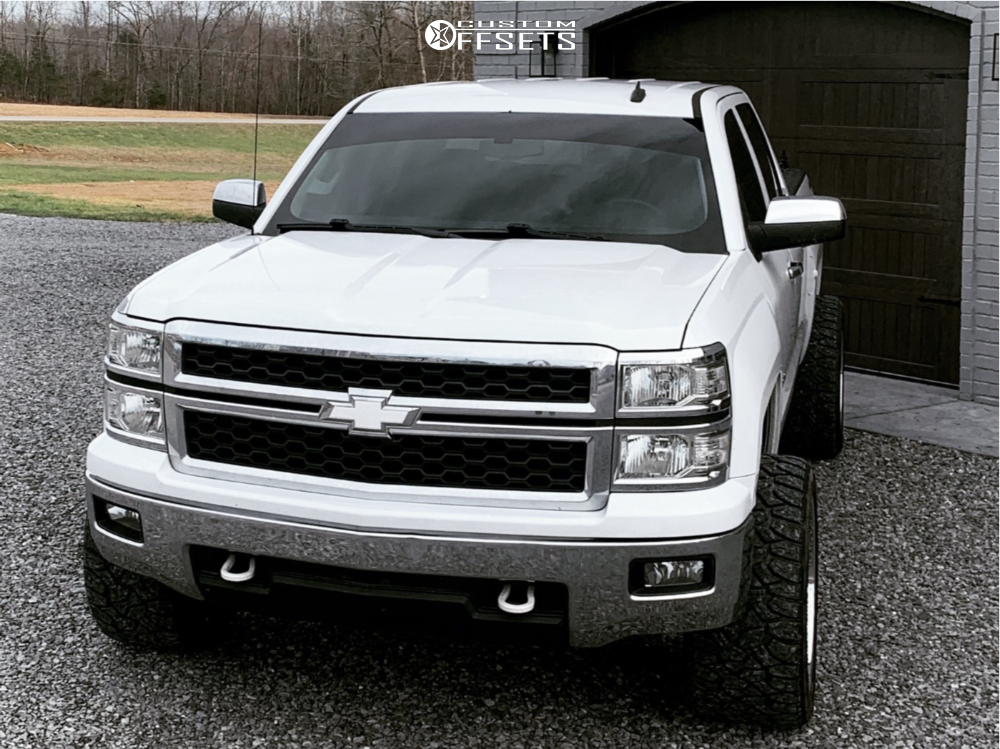 """2014 Chevrolet Silverado 1500 Super Aggressive 3""""-5"""" on 22x12 -44 offset Fuel Triton and 33""""x12.5"""" Delinte Dx-12 Bandit Rt on Leveling Kit - Custom Offsets Gallery"""