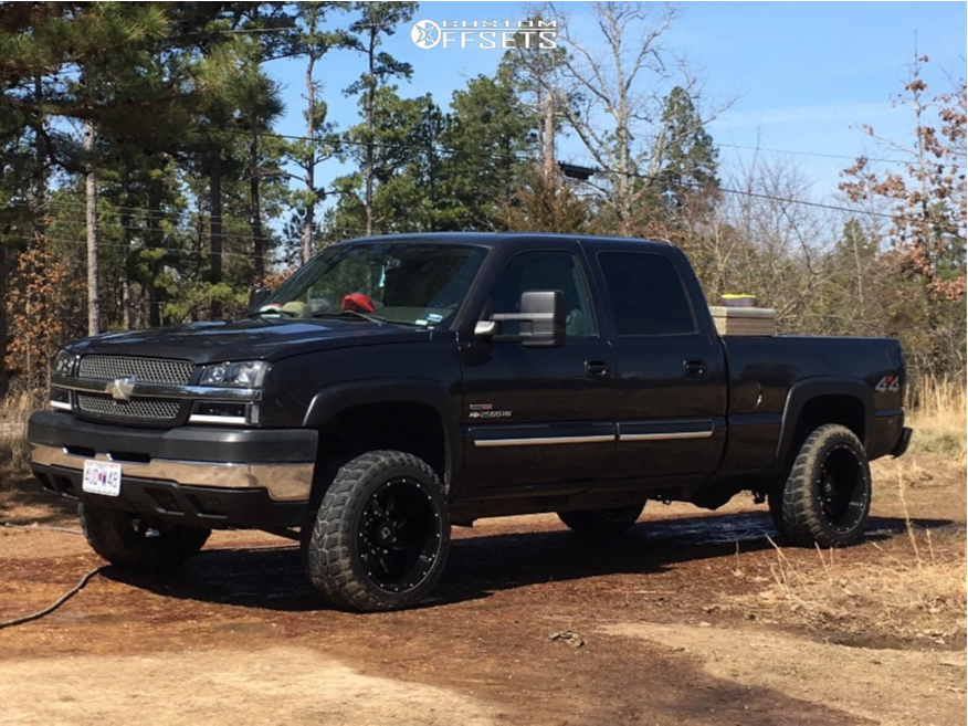1 2004 Silverado 2500 Hd Chevrolet 2 Inch Level Leveling Kit Gear Off Road Wrath Machined Black
