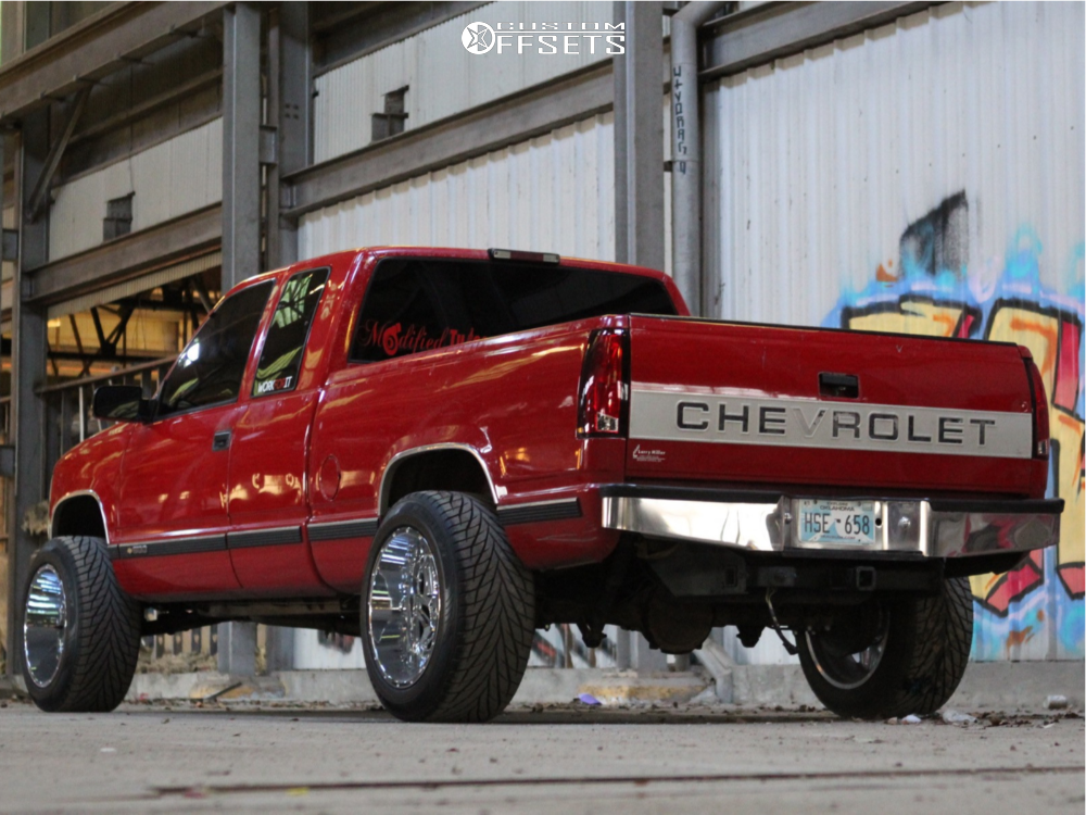 """1997 Chevrolet C1500 Super Aggressive 3""""-5"""" on 20x12 -51 offset Vision Spyder and 305/50 Toyo Tires Proxes S/t on Suspension Lift 4"""" - Custom Offsets Gallery"""