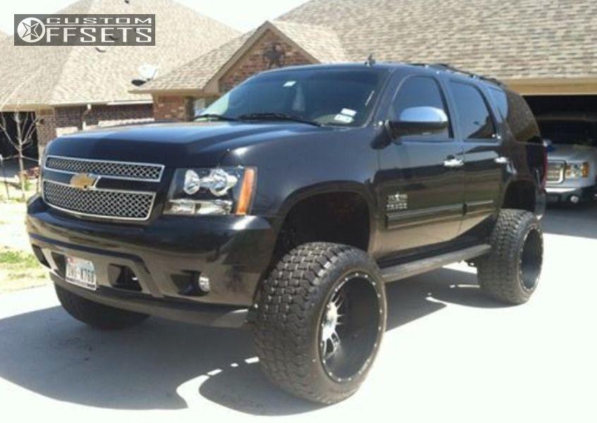 Wheel Offset 2012 Chevrolet Tahoe Hella Stance 5 Suspension Lift