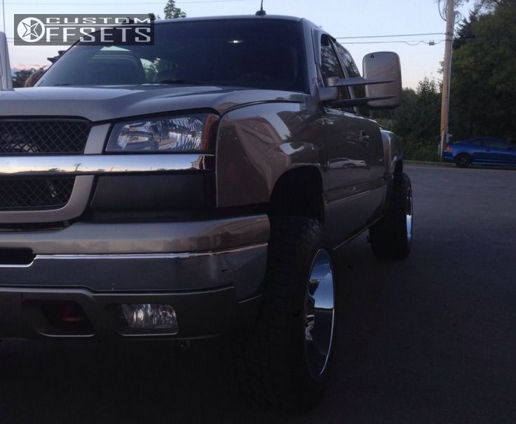 """2003 Chevrolet Silverado 1500 Super Aggressive 3""""-5"""" on 20x12 -44 offset Moto Metal MO962 and 305/50 Nitto Terra Grappler G2 on Leveling Kit - Custom Offsets Gallery"""