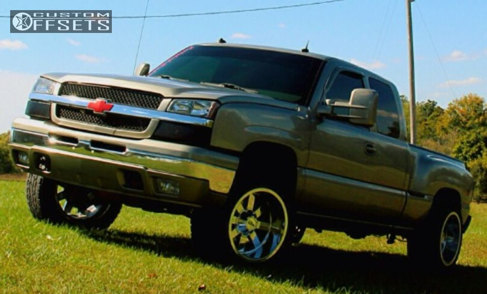 4 2003 Silverado 1500 Chevrolet Leveling Kit Moto Metal Mo962 Chrome Super Aggressive 3 5