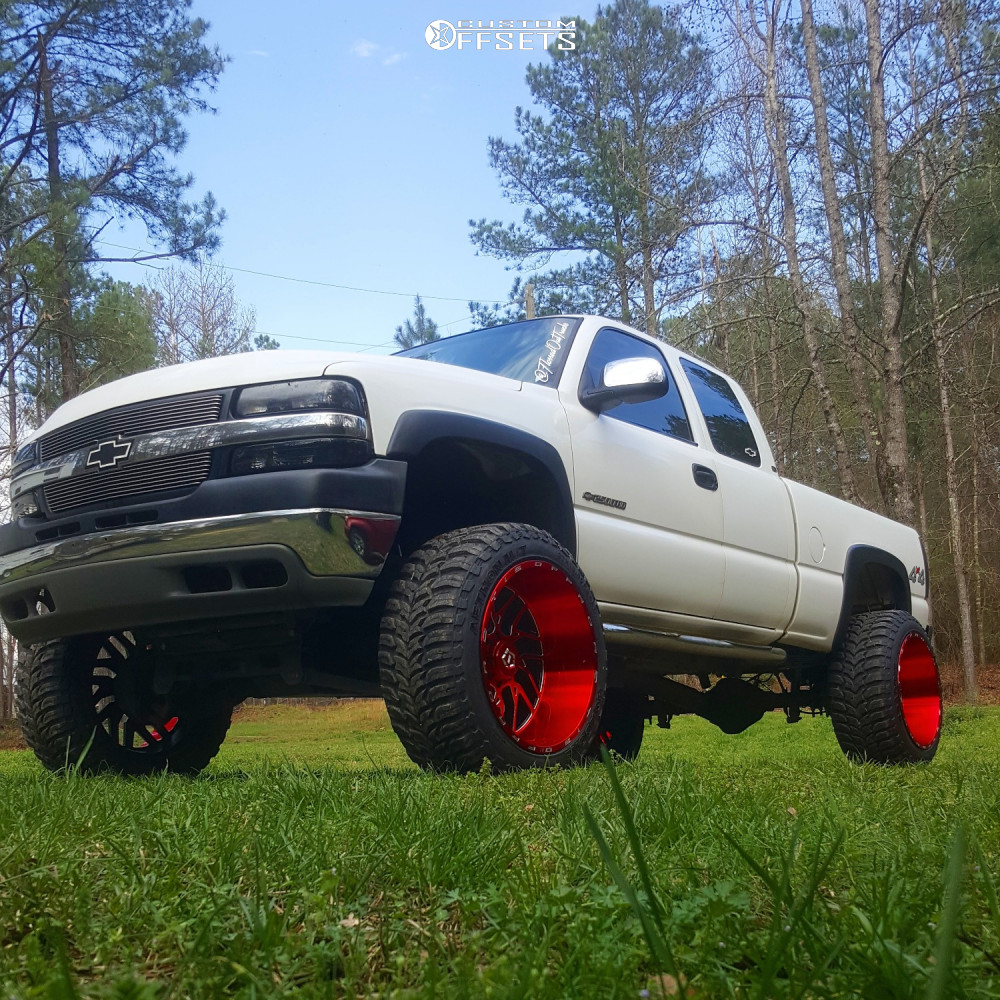 1 2002 Silverado 2500 Hd Chevrolet Rough Country Suspension Lift 6in Tis 544rm Red