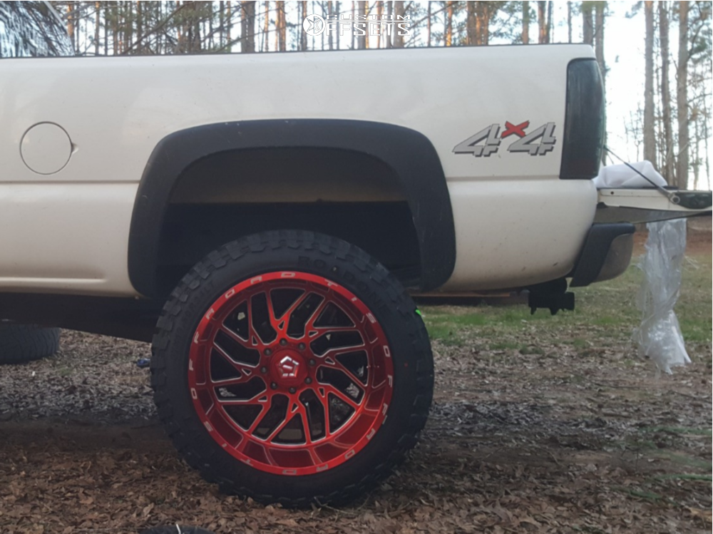 11 2002 Silverado 2500 Hd Chevrolet Rough Country Suspension Lift 6in Tis 544rm Red