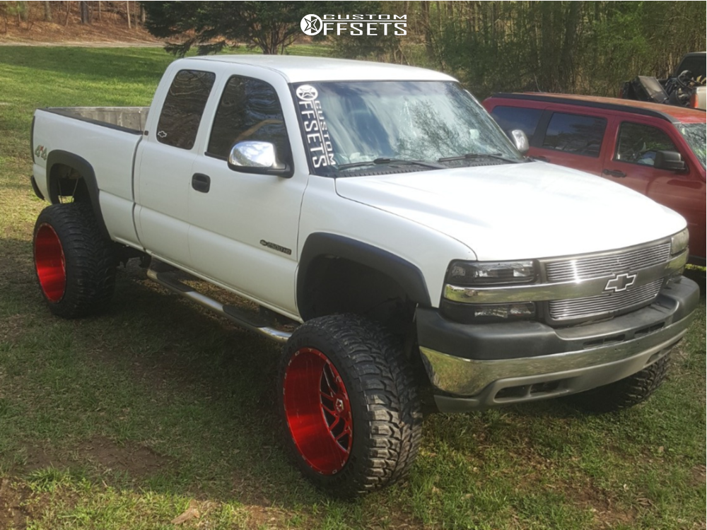 12 2002 Silverado 2500 Hd Chevrolet Rough Country Suspension Lift 6in Tis 544rm Red