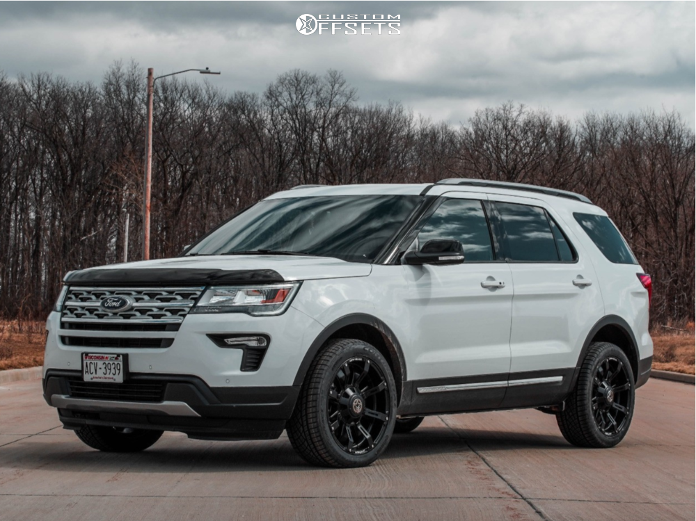 2018 Ford Explorer Flush on 20x9 -12 offset Anthem Off-Road Defender and 265/45 Continental Extreme Contact Dws06 on Stock Suspension - Custom Offsets Gallery