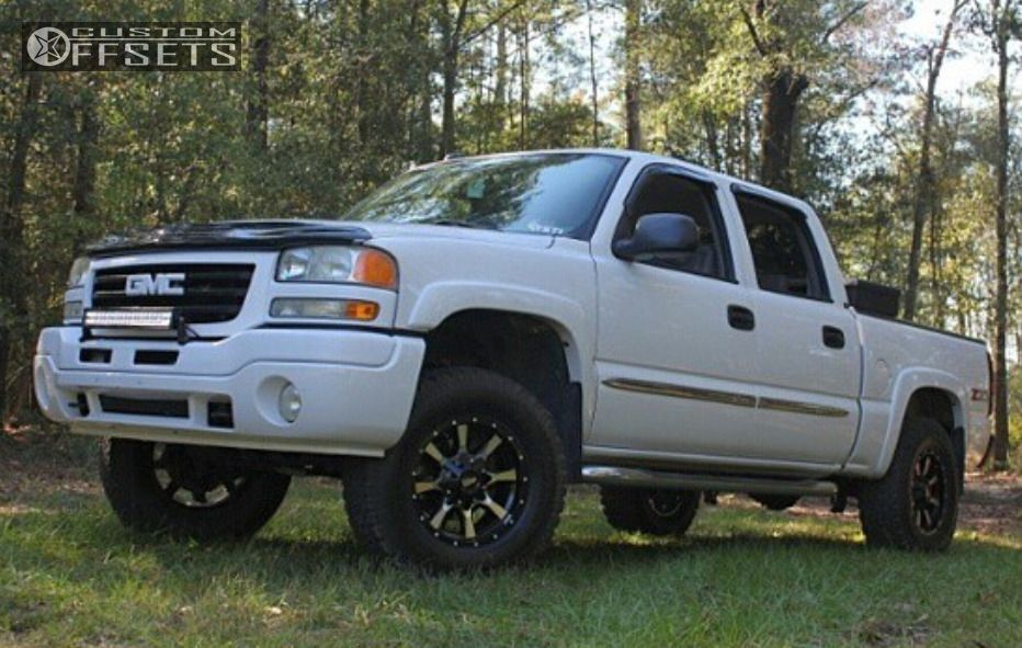 1 2004 Sierra 1500 Gmc Leveling Kit Moto Metal Mo970 Machined Accents Flush