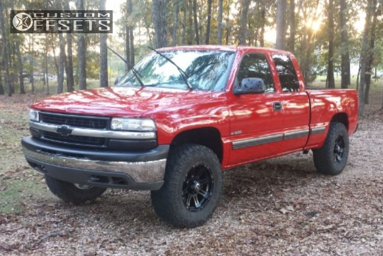 ... 1 1999 Silverado 1500 Chevrolet Leveling Kit Raceline Raptor Black  Aggressive 1 Outside Fender ...