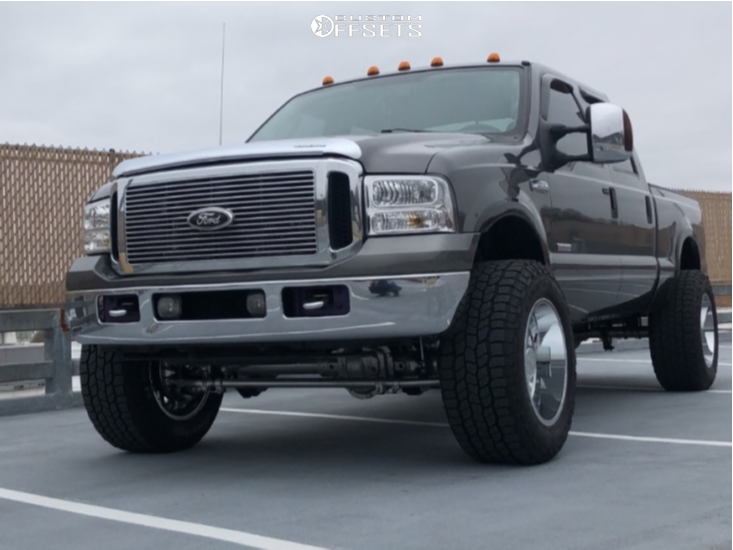 "2007 Ford F-350 Super Duty Super Aggressive 3""-5"" on 20x12 -51 offset ARKON OFF-ROAD Caesar and 325/60 Cooper Discoverer At3 Xlt on Leveling Kit - Custom Offsets Gallery"