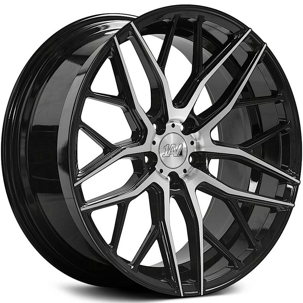1AV ZX11 Gloss Black with Machined Spoke Faces 20x10 42