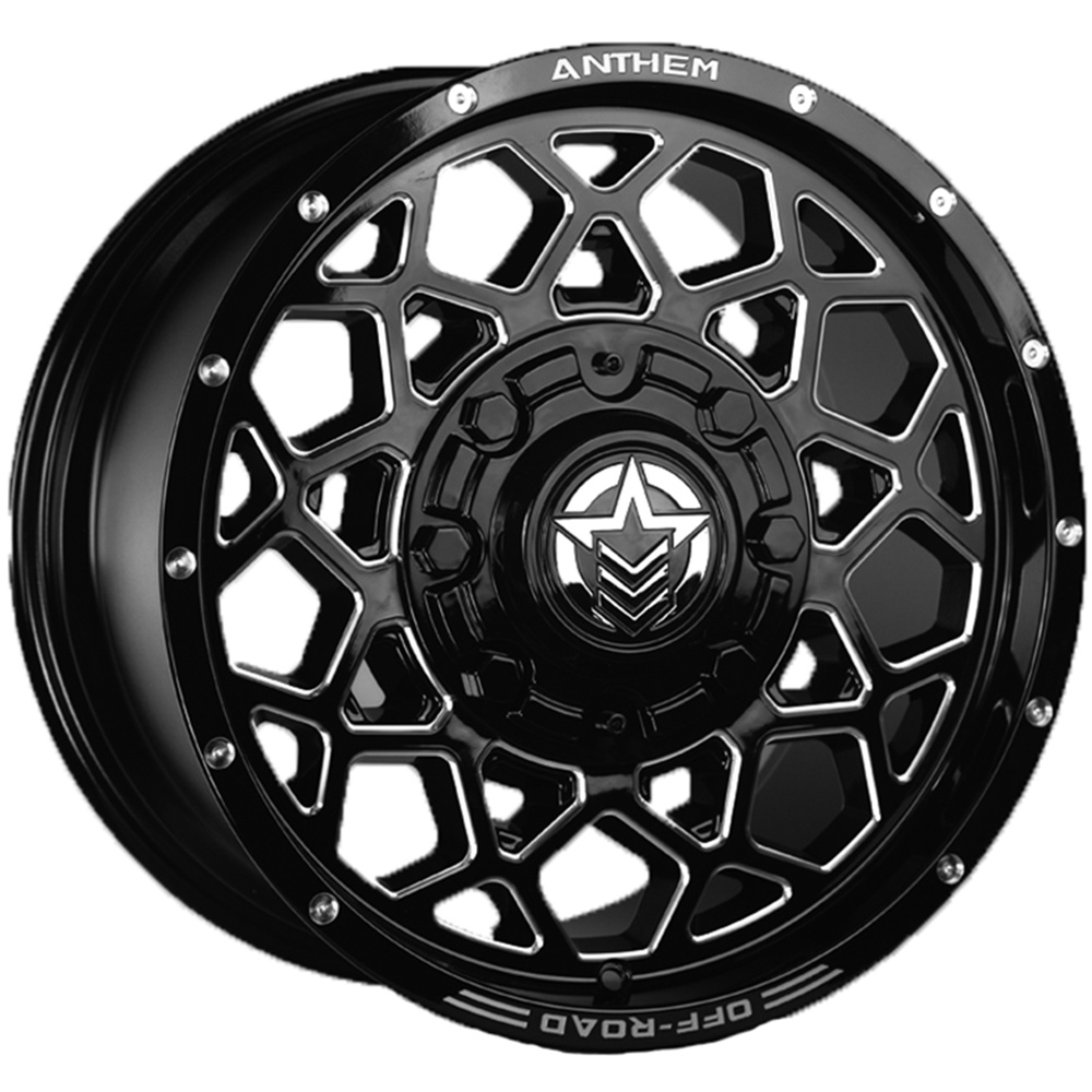 Anthem Off-Road Avenger Gloss Black with Milled Spoke Edges 20x9 0mm