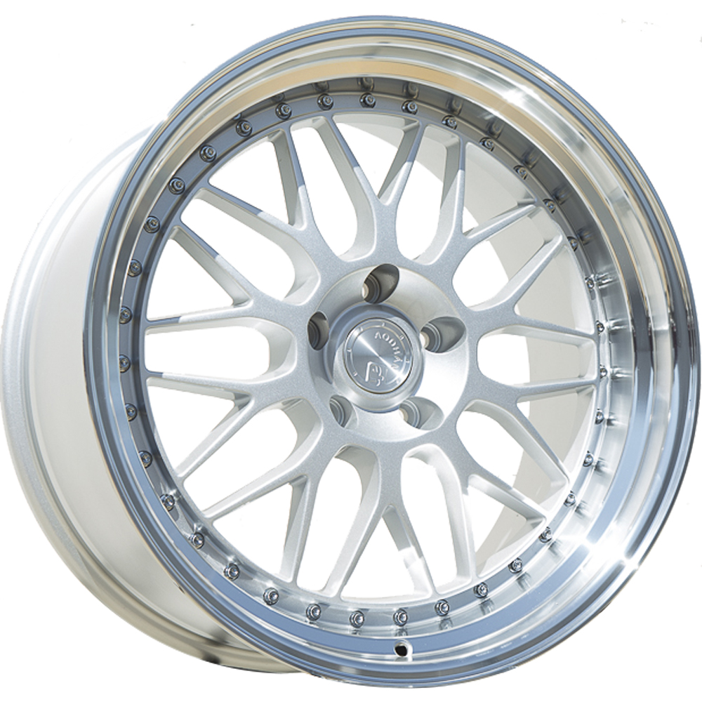 Aodhan AH02 Silver with a Machined Lip 19x9.5 12