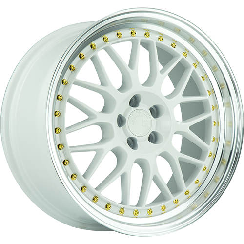 Aodhan AH02 White with a Machined Lip 19x9.5 22