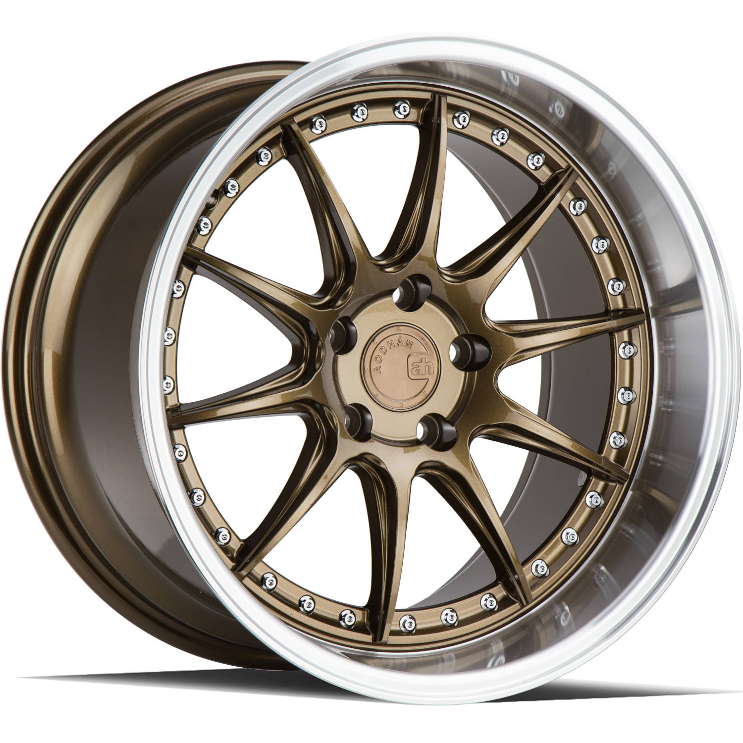 Aodhan DS07 Bronze with a Machined Lip 19x9.5 22