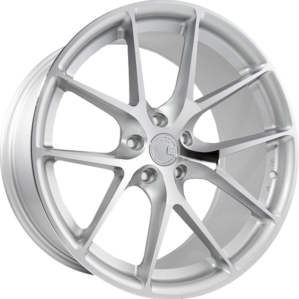 Aodhan LS007 Silver with Machined Spoke Faces 19x9.5 35