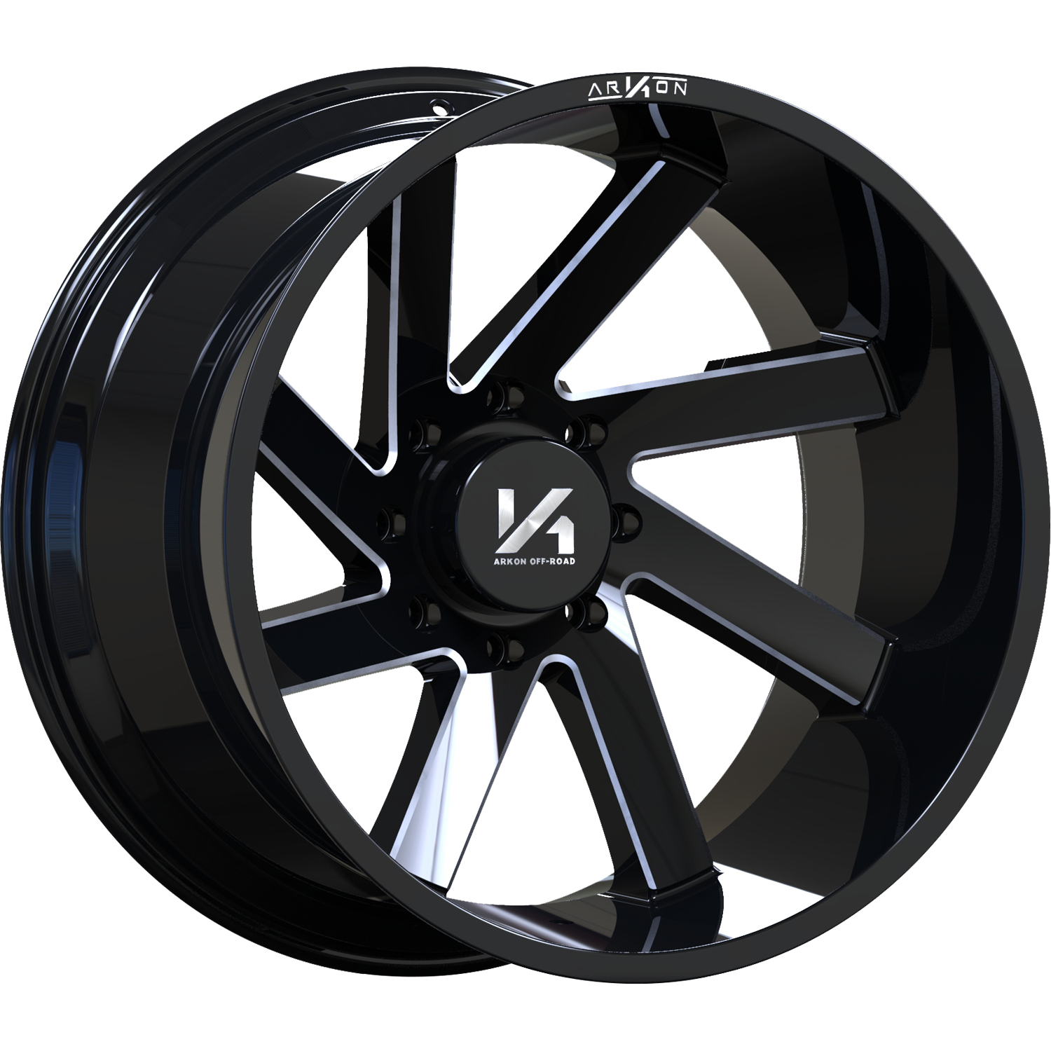 ARKON OFF-ROAD Lincoln Gloss Black with Milled Spoke Edges 20x12 -51