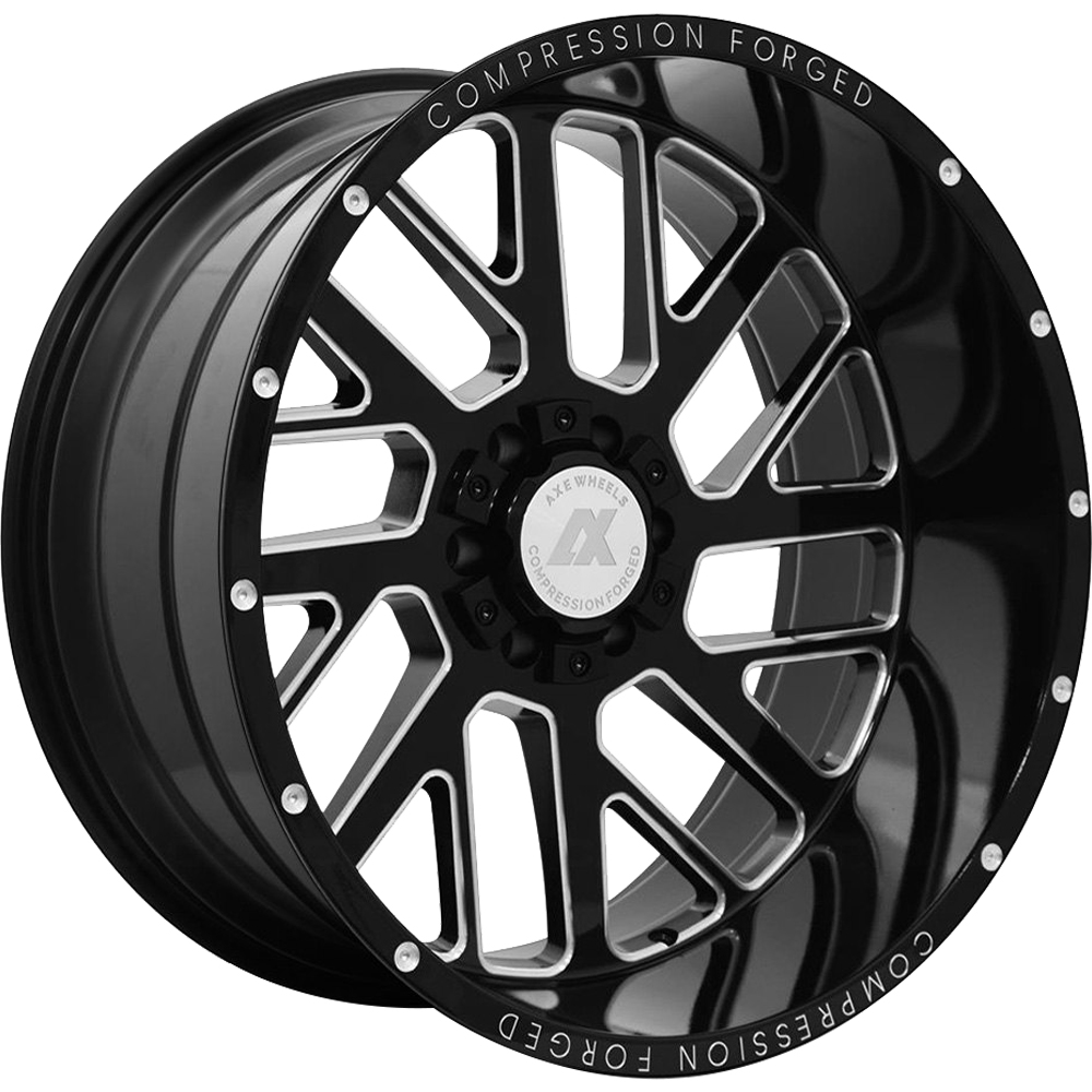 Axe Offroad AX2.0 Gloss Black with Milled Spoke Windows 24x14 -76