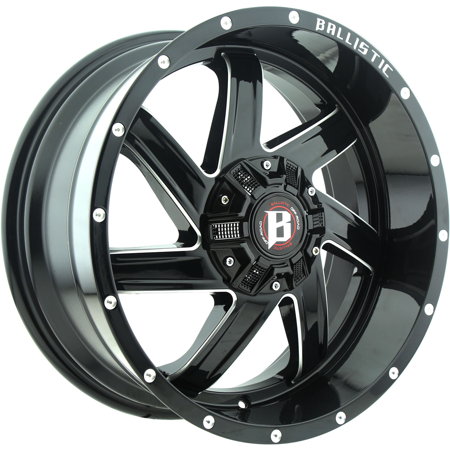 Ballistic Guillotine 22x12 44 Custom Wheels